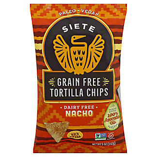 Siete Grain Free Tortilla Chip Nacho, 5 oz