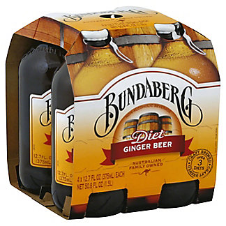 Bundaberg Diet Ginger Beer 12 oz Bottles, 4 pk