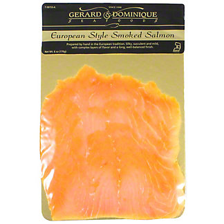 Gerard & Dominique Seafoods Smoked Salmon Euro Style, 6 oz