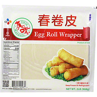 Twin Marquis Egg Roll Wrapper, 2 Lb