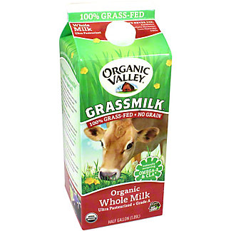 Organic Valley Grassmilk Whole Milk Ultra Pasteurized, 0.5 gl