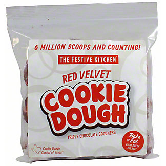 Festive Kitchen Red Velvet Cookie Dough Balls, 24 oz