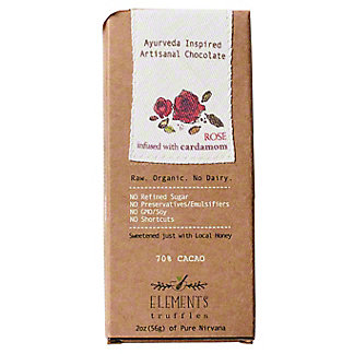 Elements Truffles Bar Rose Infused With Cardamom, 2 Oz