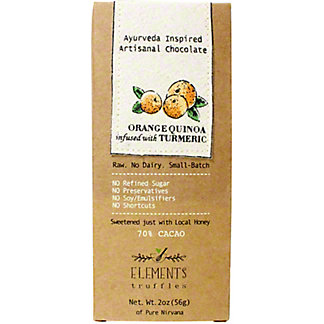 Elements Truffles Orange Quinoa With Turmeric Bar, 2 OZ