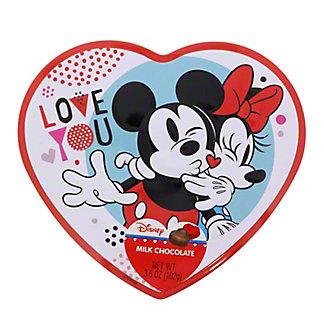 Frankford Mickey Mouse Milk Chocolate Valentine Heart Tin, 3.6 oz