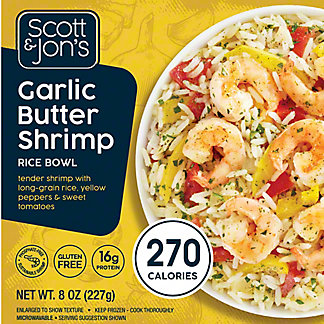 Cheating Gourmet Garlic Butter Shrimp Rice Bowl, 8 oz.
