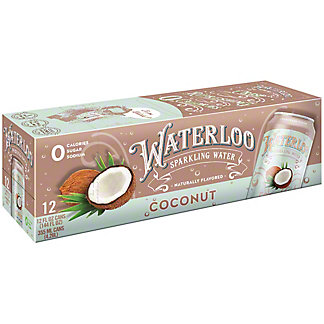 Waterloo Coconut Sparkling Water, Ea