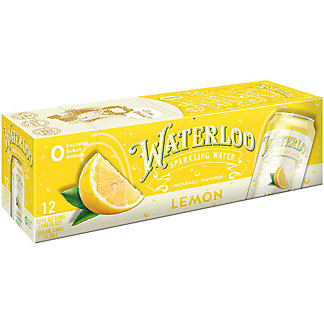 Waterloo Lemon Sparkling Water, Ea
