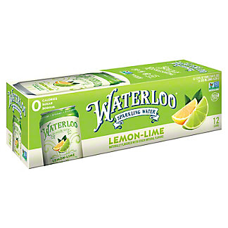 Waterloo Lemon-Lime Sparkling Water 12 oz Cans, 12 pk