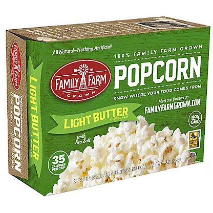 Family Farm Grown Light Butter Popcorn, Ea
