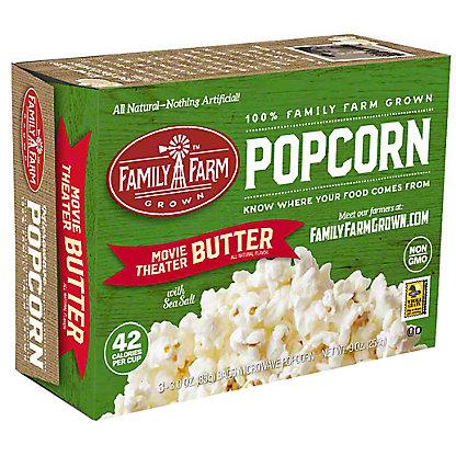 Family Farm Grown Movie Theater Butter Popcorn, Ea