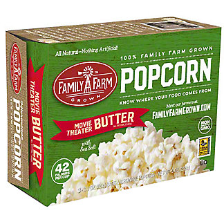 Family Farm Grown Movie Theater Butter Popcorn, Ea