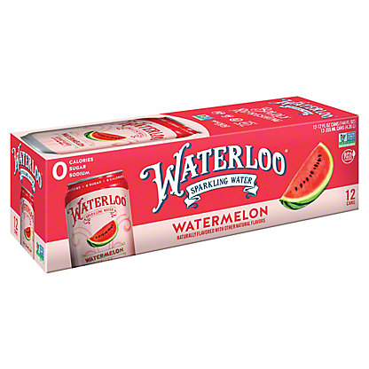 Waterloo Watermelon Sparkling Water, Ea