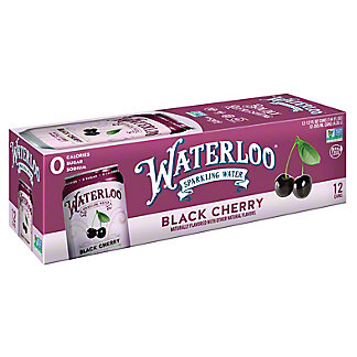 Waterloo Black Cherry Sparkling Water, Ea