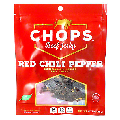 Chops Red Chili Pepper Jerky, 2.75 oz