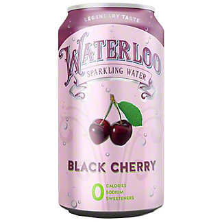 Waterloo Black Cherry Sparkling Water, 12 oz