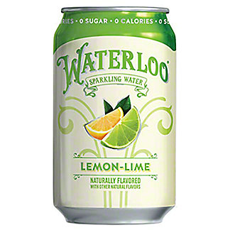 Waterloo Lime Sparkling Water, 12 oz