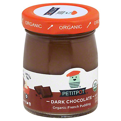 Petitpot Organic Dark Chocolate Pudding, 4 oz