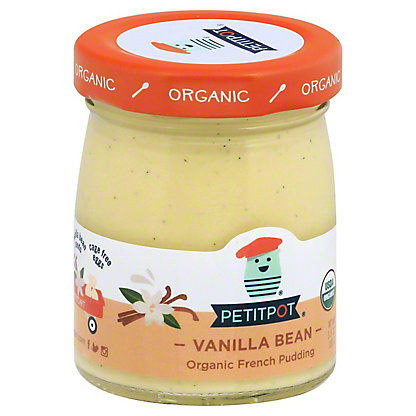 Petitpot Organic Vanilla Pudding, 4 oz