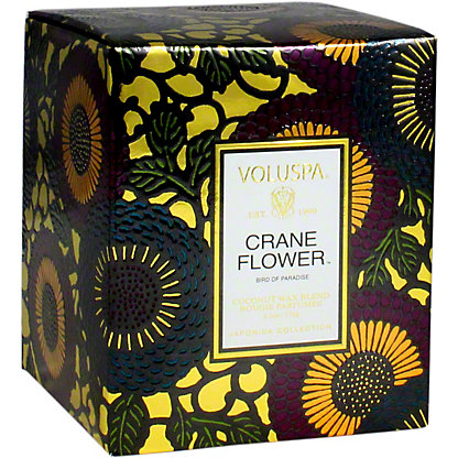VOLUSPA Voluspa Crane Flower Box Candle, 6.2 OZ