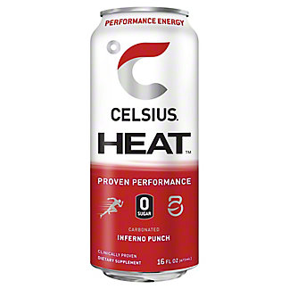Celsius Heat Inferno Punch, 16 oz