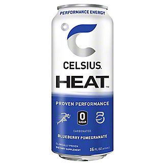 Celsius Heat Blueberry Pomegranate, 16 oz