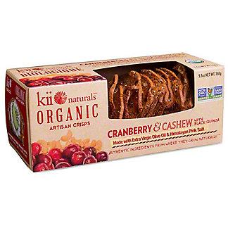Kii Naturals Crisps Cranberry & Cashew, 5.3 Oz
