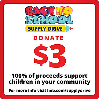 H-E-B $3 COVID-19 Relief Efforts, EACH