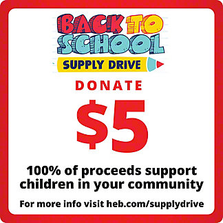 H-E-B $5 COVID-19 Relief Efforts, EACH