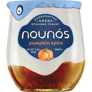 Nounos Seasonal Pumpkin Spice Greek Yogurt, 6 oz