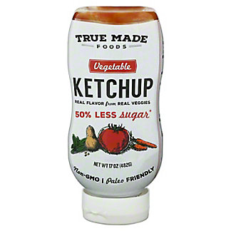 True Made Foods Vegetable Ketchup, 17 oz