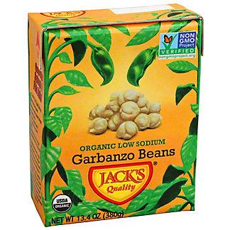 Jacks Quality Organic Low Sodium Garbanzo Beans, 13.40 oz