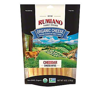 Rumiano Organic White Cheddar Bites, Ea