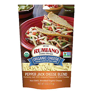 Rumiano Organic Pepper Jack Blend Shredded, Ea