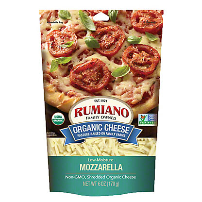Rumiano Organic Mozzarella Shredded, Ea