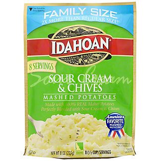 Idahoan Sour Cream & Chives Mashed Potatoes, 8 oz