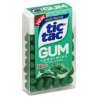 Tic Tac Spearmint Gum, 56 ct