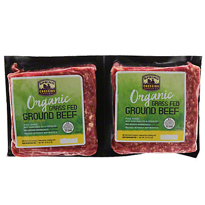 Spring Crossing Organic Grass Fed Ground Beef 90% Lean, 32 oz