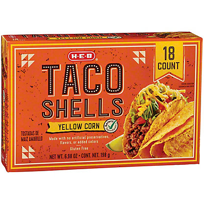 H-E-B Taco Shells, 18 ct