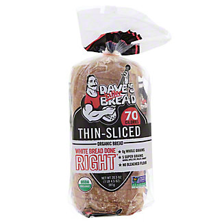 Daves Killer Bread White Bread Done Right Thin-Sliced Organic Bread, 20.5 oz