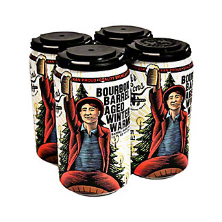 Rahr & Sons Bourbon Barrel Aged Winter Warmer, Cans, 4 pk, 12 fl oz ea