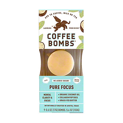 Ladybird Provisions Butter Coffee Bombs Pure Focus, 6 ct