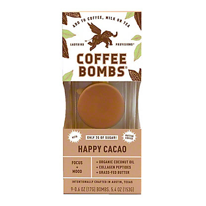 Ladybird Provisions Butter Coffee Bombs Happy Cacao, 6 ct
