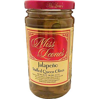 Miss Leones Olives Jalapeno Stuffed, ea