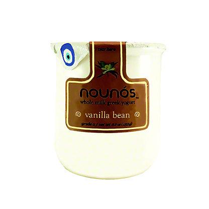 Nounos Greek Yogurt Whole Milk Vanilla Bean, ea
