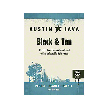 Austin Java Black & Tan Whole Bean Coffee, 12 oz