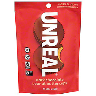 Unreal Dark Chocolate Peanut Butter Cups, ea