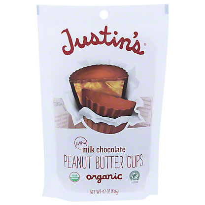 Justin's Milk Chocolate Mini Peanut Butter Cups, 4.7 oz