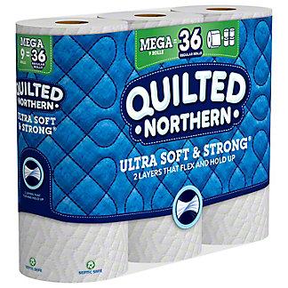 Quilted Northern Ultra Soft & Strong Toilet Paper, 9 Mega Rolls