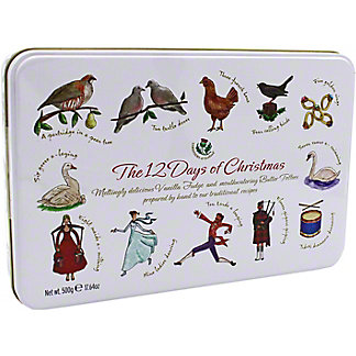 Gardiners Of Scotland 12 Days Of Christmas Fudge & Butter Toffees Tin , 17.64 oz
